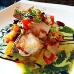 ビアンコ - 料理写真:白身魚のバジルソース(ランチコース)