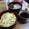 大正庵 - 料理写真:玉子丼とお蕎麦の2段です