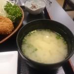 とんかつ川久 - 味噌汁