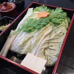 しゃぶ亭 - 特選ミックス定食(上豚50g、特選牛60g)1814円