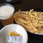 レイクサイドレストラン - フライドポテト、生ビール(2015/7)