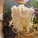 麺屋 兆良 - 低加水の細麺。