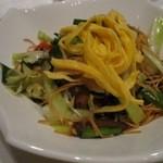 中国料理 「チャイナブルー」 - 蟹肉入り福建式焼きそば
