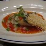 中国料理 「チャイナブルー」 - 白身魚の揚げ物 チリソース