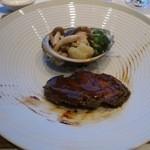 中国料理 「チャイナブルー」 - 白トリュフオイル香る鮑の冷菜 キノコと季節野菜を添えて