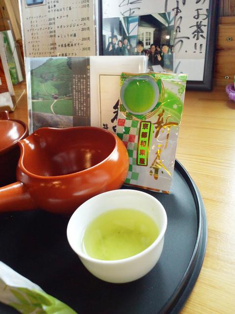 和束茶屋 山甚 - 新茶 一煎 税込300円(2015.5月)