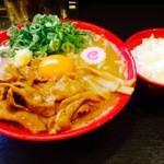 肉玉そば おとど - 亀有店限定の味噌肉玉そば(800円)ライス無料