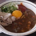 山田うどん - 料理写真:豚しゃぶカレーまぜうどん(2015年7月)