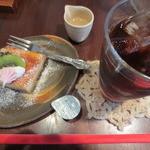 カフェ ヒメル - 柚子のベイクドチーズ&アイスコーヒー