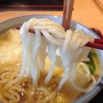 40124255 - H.27.7.19.昼 麺リフト 細麺です (かっちんうどん(温))
