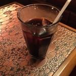 40124281 - 少々飲んでしまいました♪アイスコーヒーです。