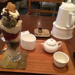 日本茶専門店 茶倉 - 焙じ茶パフェミニと煎茶! ★★★★☆
