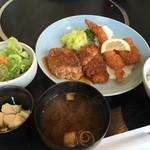 西洋食房 芝 - ランチ:ミックスフライ定食
