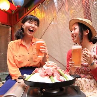 ビアガーデン飲み放題付き2500円!!