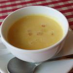 40131316 - コーンスープは濃厚で甘い。
