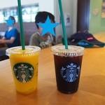 スターバックスコーヒー - 暑い夏の朝にはマンゴーフラペチーノとアイスコーヒーが♡