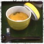 秋田屋 - ここの茶碗蒸しは上にあんがかかってたタイプの茶碗蒸しです。