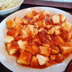 一杯屋 - マーボー豆腐定食(ご飯大盛り無料) 550円