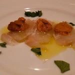 Hostaria Casa Bella - ウニと白身魚のカルパッチョ