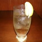 食処酒処いいおか - 雷ハイボール (浅草の味電気ブランをソーダで割ったハイボールです)