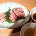 よだきんぼ - 白肝のタタキ