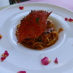 トラトッリア ルッチ - 渡り蟹のトマトクリームソース タリオリーニ