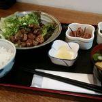 ごはん屋進 - 鳥取和牛の焼き肉定食(ダブル)