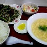 開華園 - レバニラ炒め定食(*^^*)メインは選べます♪