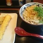 丸亀製麺 - ぶっかけうどん+海老天婦羅+いか天婦羅