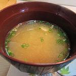 磯春 - アラ汁のお味噌汁