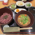 武蔵利休 - 自分は五穀米と小鉢三種の御膳(950円+税)