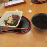 武蔵利休 - プラス190円でわらび餅がほうじ茶とともに。