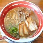 麺王 - 徳島ラーメン+チャーシュー