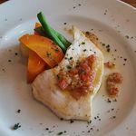 40152871 - カジキマグロの焼き加減も絶妙で食べ応え十分!                       Grilled condition of swordfish is exquisite enough to eat!!