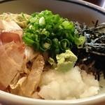 40153701 - 「唐招提寺」蕎麦ver。麺が蕎麦の場合は薬味が山葵、饂飩の場合は生姜になります。