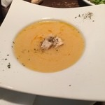 ハンバーグ専門店ボストン - コーンスープ