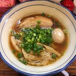 40154558 - 熟成レトロ醤油ラーメン細麺大盛+煮卵