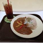 ココロゴトcafe - キーマカレー(大盛無料・ドリンクつき) 1100円