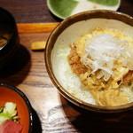 平田牧場 極 - 金華豚ミニかつ玉丼
