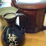芙蓉庵 - 蕎麦焼酎「雲海」蕎麦湯割セット
