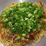 お好み焼き 大樹 - 肉玉そばW+ネギ+生イカ