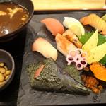 魚輝水産 - 寿司定食