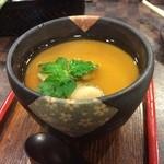 すし道場 - 蛤餡の茶碗蒸し
