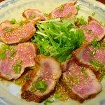 洋風居酒屋メルフル3 - 料理写真:豚のたたき ¥730