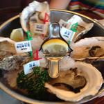 oisuta-ba-jakkupotto - 牡蠣5種盛り