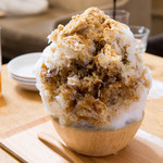 オイモカフェ - くろみつ塩きなこ氷