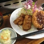 ホルモン焼 げんこつ - げんこつ定食(500円)