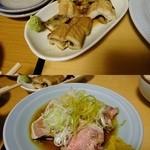 40182093 - 煮穴子¥300/タン刺し¥250