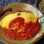 シェフガーデン田口 - トマトソースのオムライスです。