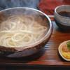 釜あげ饂飩 楽 - 料理写真:「釜揚げうどん」 2015年5月